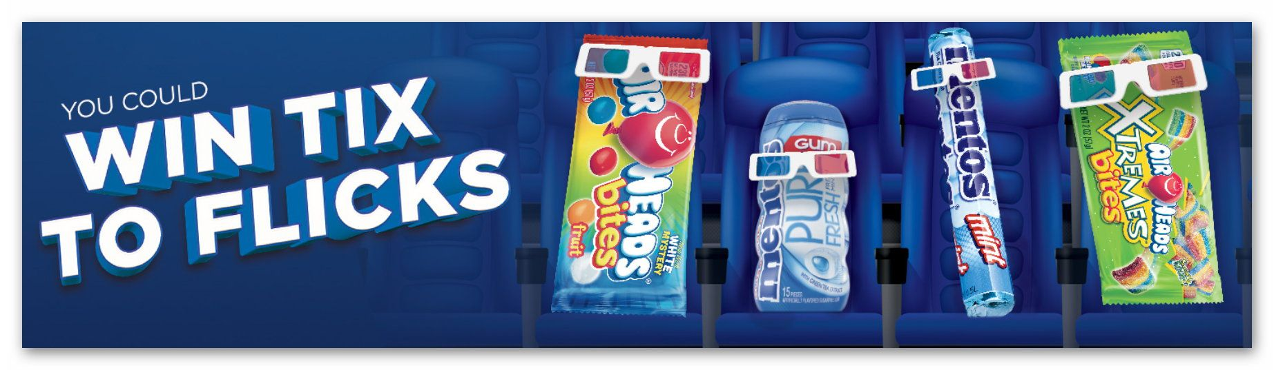 AIRHEADS and MENTOS Reel Sweet Sweeps
