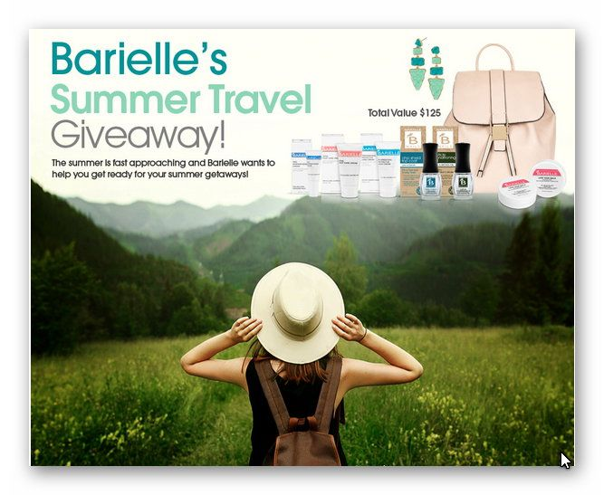 Barielle's Summer Travel Giveaway