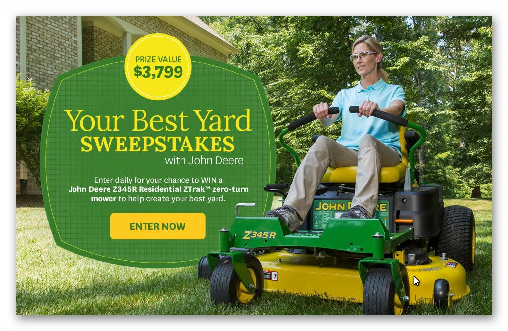 John Deere Your Best Yard Sweepstakes