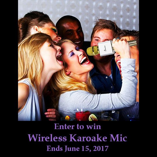 Enter to win a Karaoke Microphone with Bluetooth Speaker
