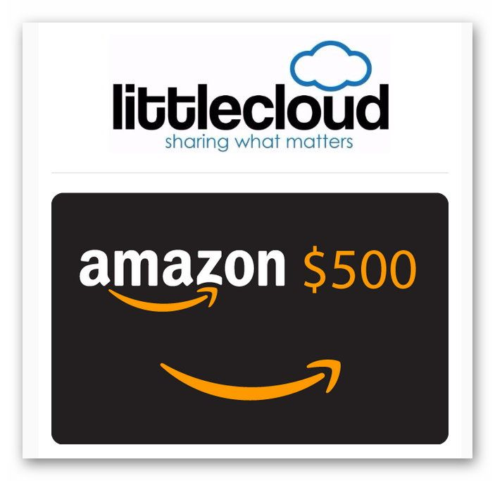 Littlecloud $500 Amazon Gift Card Giveaway