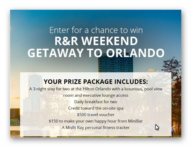 R&R Weekend Getaway to Orlando
