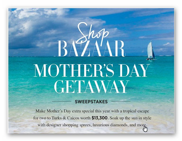Shop Bazaar Mother's Day Getaway