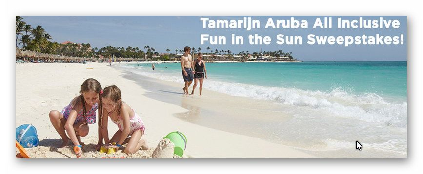 Tamarijn Aruba All Inclusive Fin in the Sun Sweepstakes