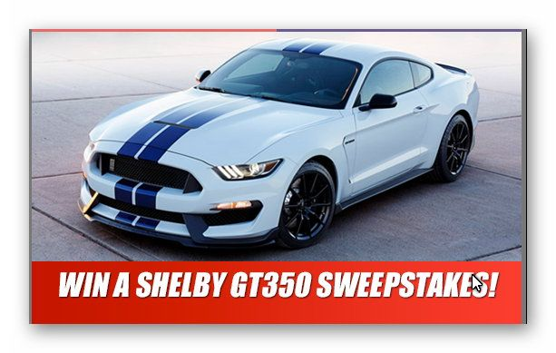 Win a Shelby GT3501 Sweepstakes