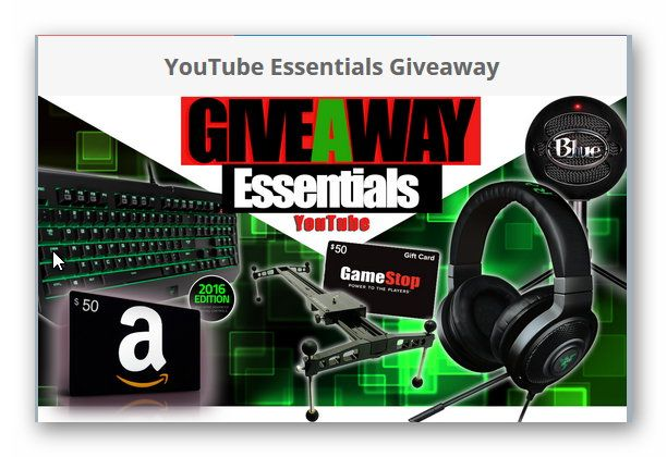 YouTube Essentials Giveaway (Worldwide)