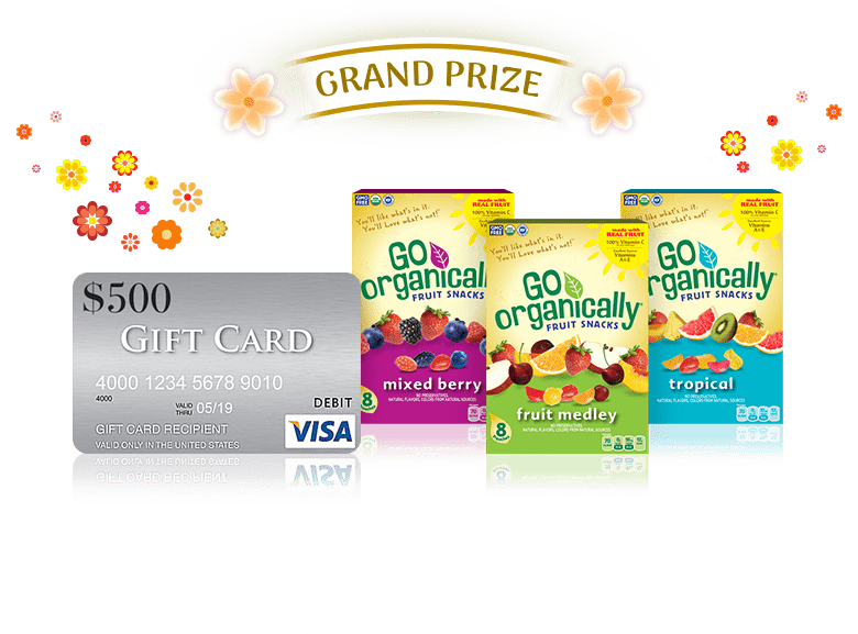 Go Organically Fruit Snacks Momination Sweepstakes