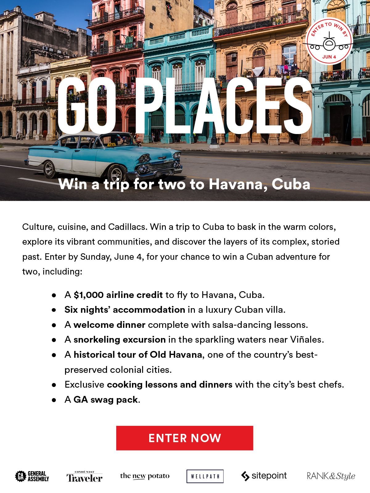 Win a trip for two to Havana, Cuba