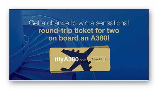 Win a Round Trip Ticket for Two aboard an A380 AirBus