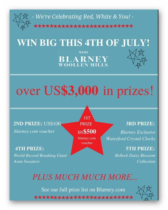 Win a July 4th To Remember With Blarney Woollen Mills