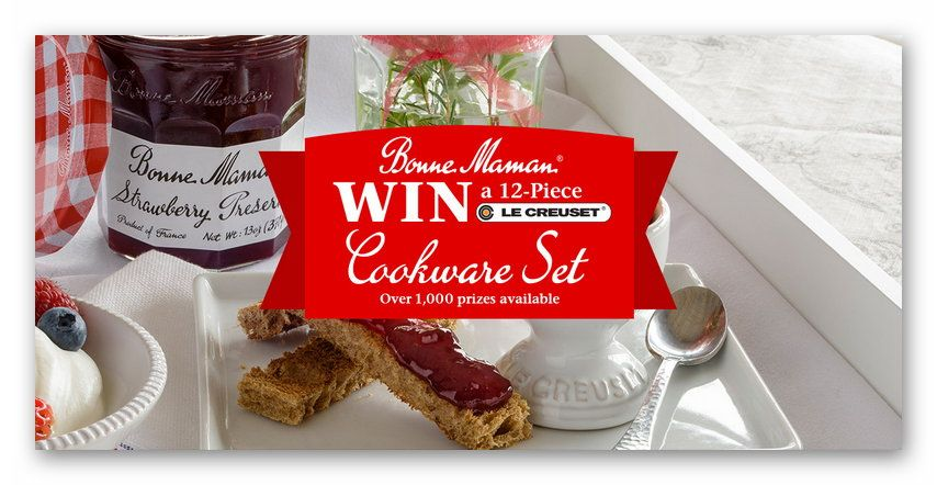 "Bonne Maman ""Win a 12-¬Piece Le Creuset Cookware Set"" Sweepstakes"