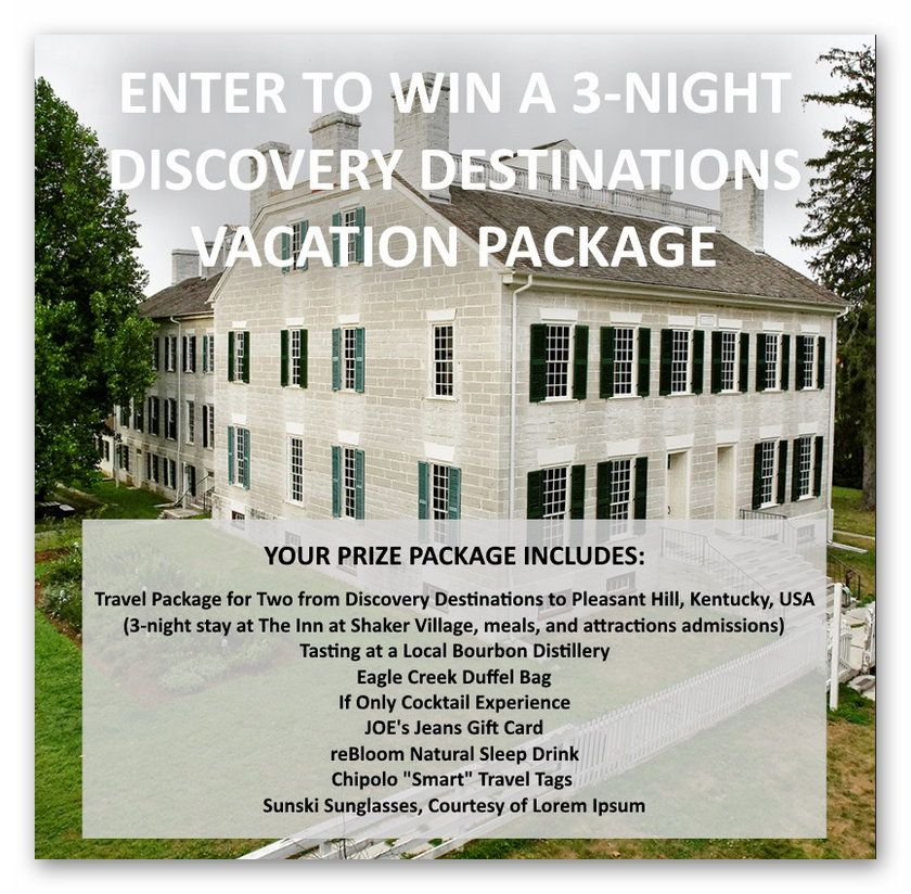 Win a 3-night trip to Kentucky's Bourbon Country