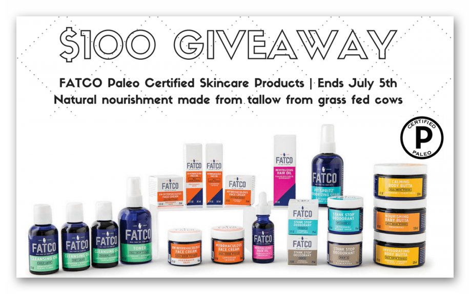 $100 FATCO Skin Care Gift Certificate Giveaway
