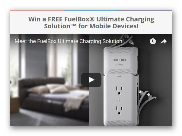 Win a FREE FuelBox® Ultimate Charging Solution™ for Mobile Devices