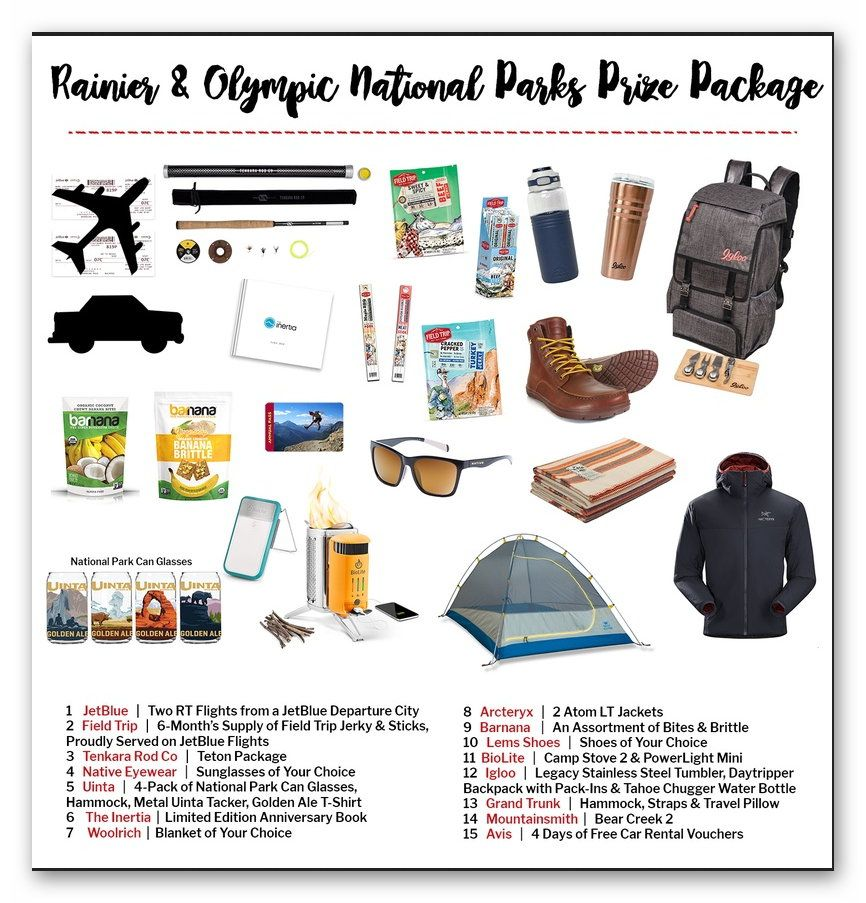 Win a trip to Rainier & Olympic National Parks