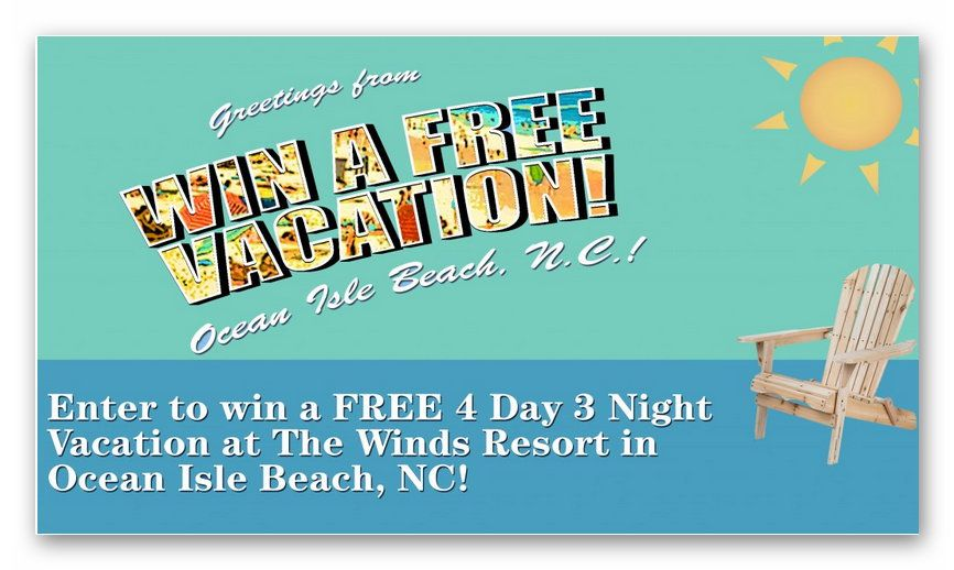 Win a Free Vacation to Ocean Isle Beach NC