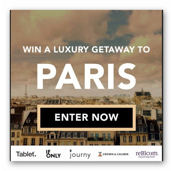 WIN A LUXURY GETAWAY TO PARIS