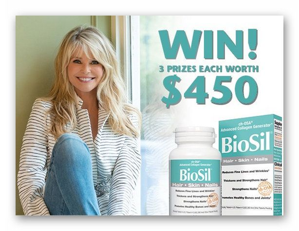 Win Biosil Products and Christie Brinkley's Timeless Beauty Book