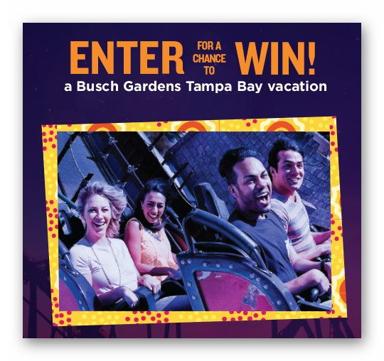 Busch Gardens Summer Nights Sweepstakes & Instant Win Game