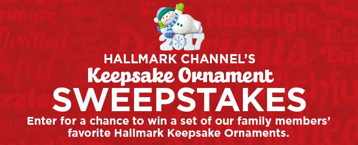 Hallmark Channel's Keepsake Ornament Sweepstakes