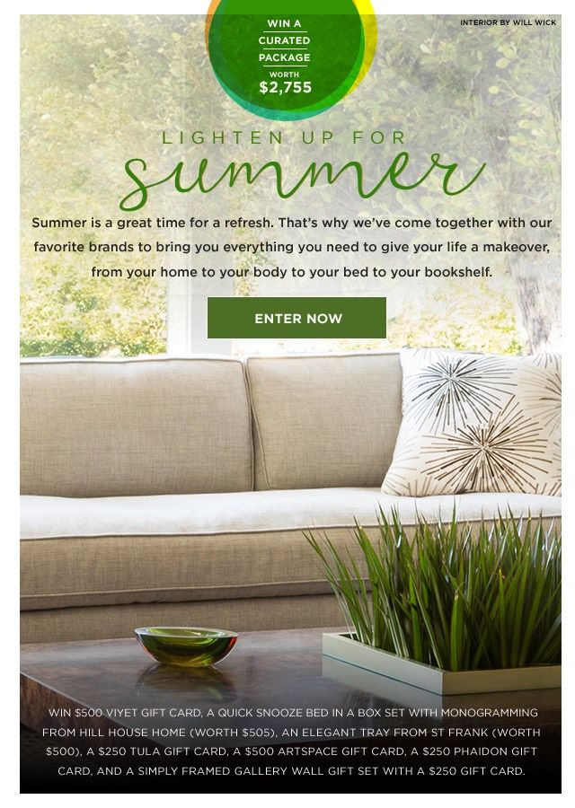 The Lighten Up for Summer Sweepstakes