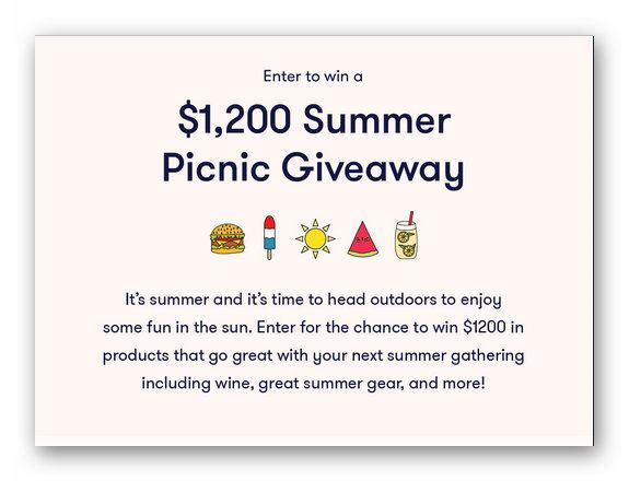 $1,200 Summer Picnic Giveaway