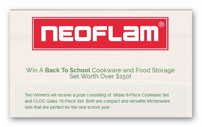 Win A Back To School Cookware and Food Storage Set Worth Over $150