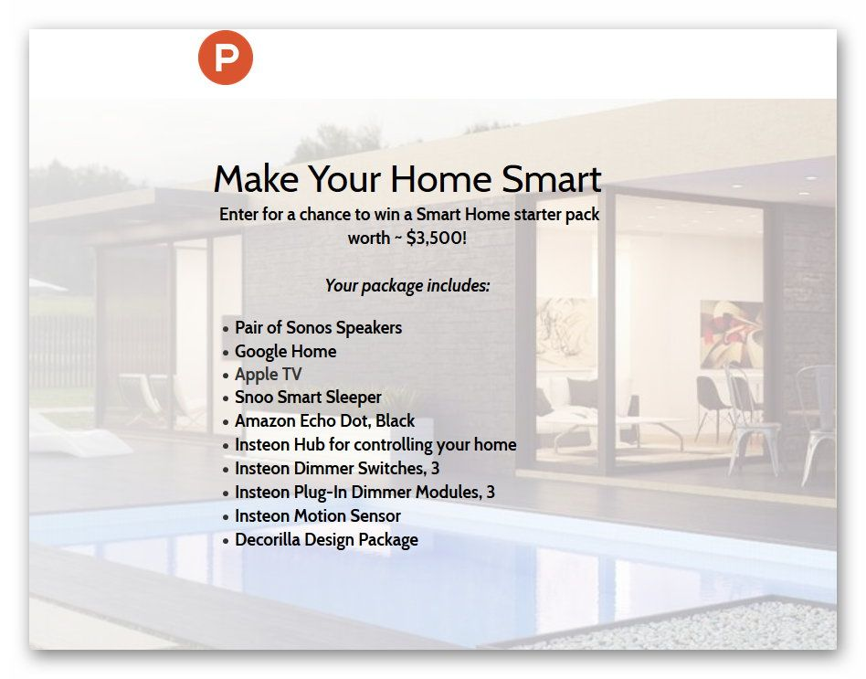 $3,500 Smart Home Giveaway