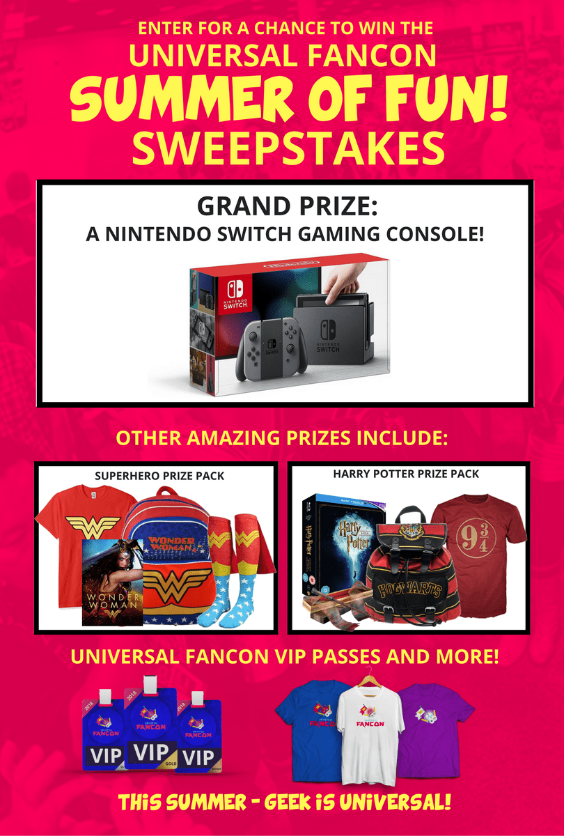 Universal FANCON Summer of Fun Sweepstakes