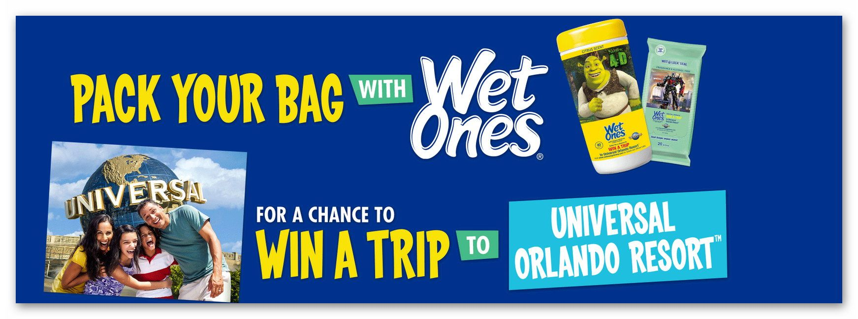 WetOnes Wish I Had A Trip To Universal Orlando Sweepstakes