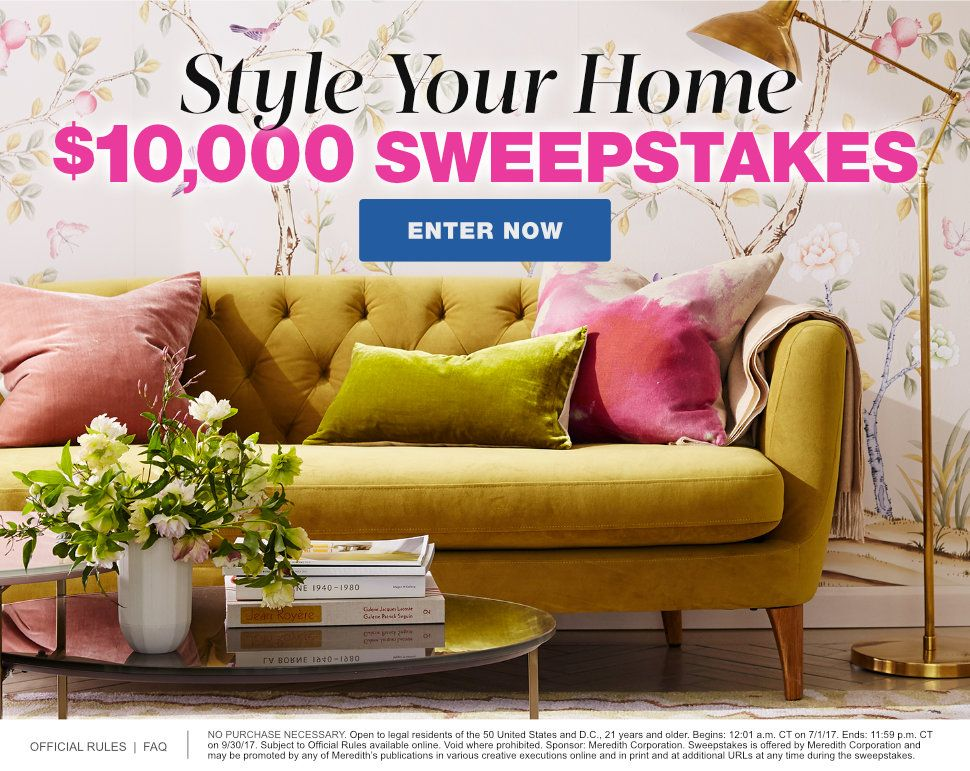 Martha Stewart Style your Home Sweepstakes