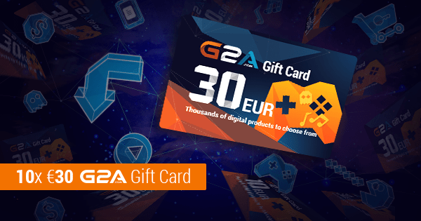 Win 1 of 10 G2A Gift Cards valued at $30 Euros