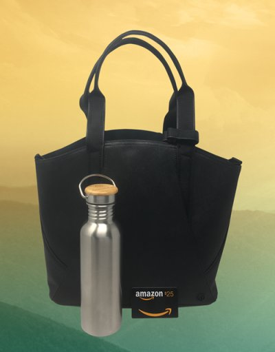 Lululemon® Tote, Bota Blue™ Stainless Steel Water Bottle and a $25 Amazon.com Gift Card Giveaway