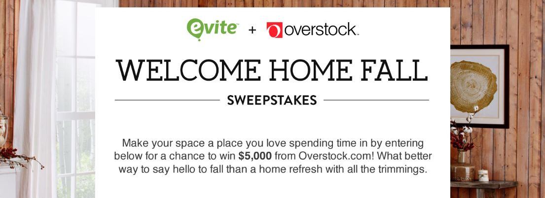 Overstock.com Welcome Home Fall Sweepstakes
