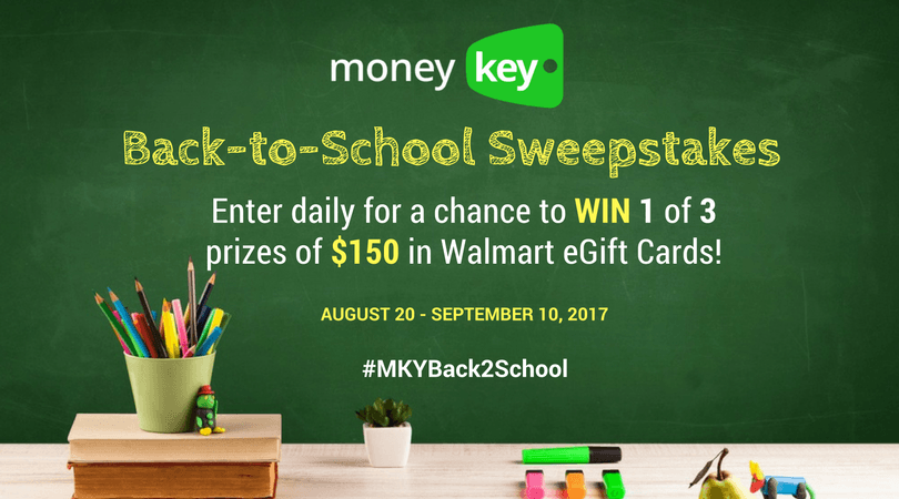 MoneyKey Back-to-School Sweepstakes