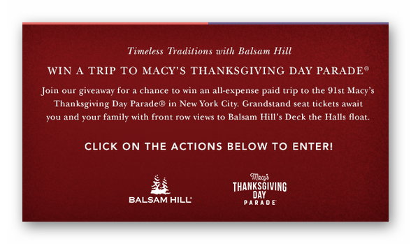 Timeless Traditions with Balsam Hill: Win A Trip to the Macy's Thankgivings Day Parade
