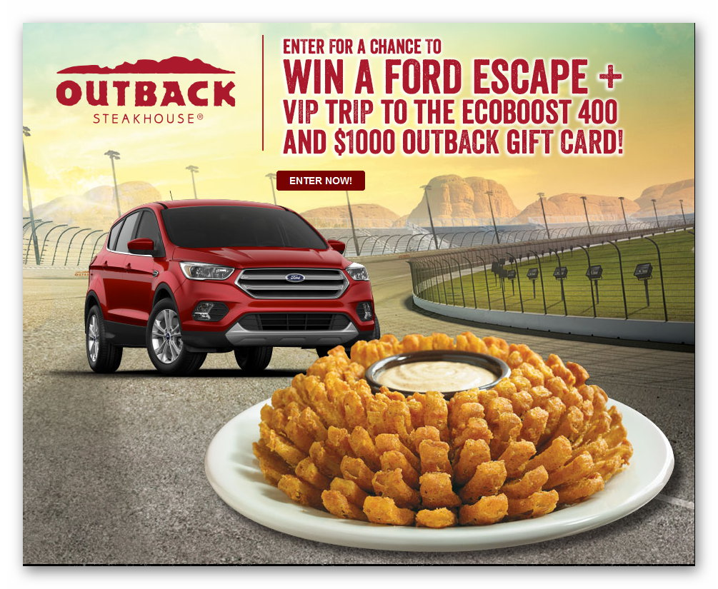 """Outback Steakhouse """"2017 Fall Racing"""" Sweepstakes"""