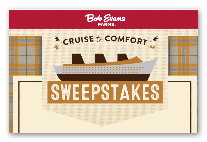 Bob Evans Cruise to Comfort Sweepstakes & Instant Win Game
