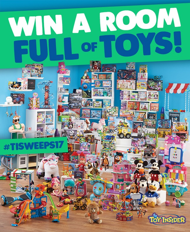 Toy Insider's Room Full of Toys Holiday Sweepstakes