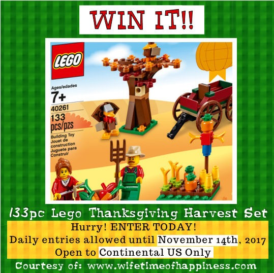 Lego Thanksgiving Harvest Set Giveaway