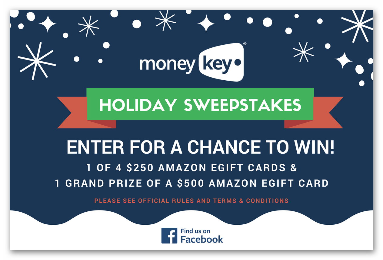 MoneyKey Holiday Sweepstakes