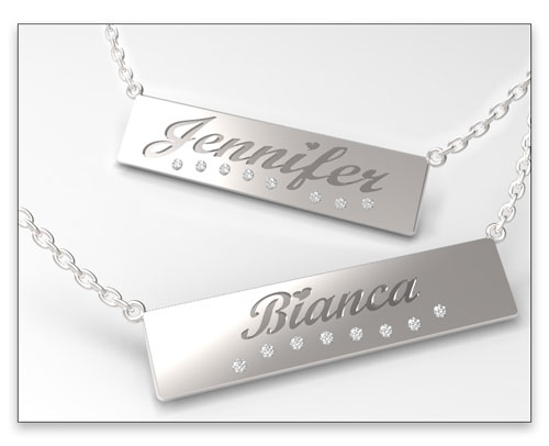 Win A $250 Customized Silver Nameplate Necklace