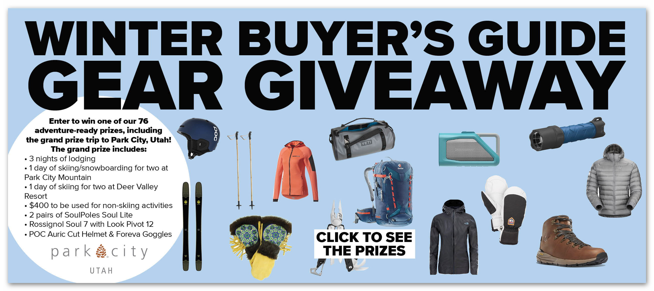 Outside Magazine Winter Buyer's Guide Sweepstakes