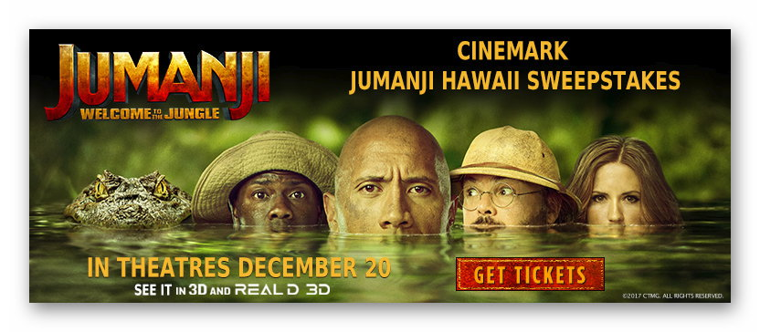 Jumanji Hawaii Sweepstakes