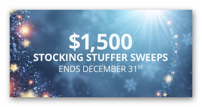 $1,500 Stocking Stuffers Sweepstakes