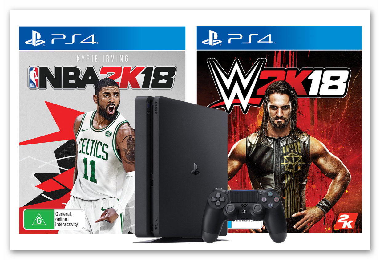 Win the Ultimate Gaming Bundle – NBA 2K18, WWE 2K18 and a PS4 Console