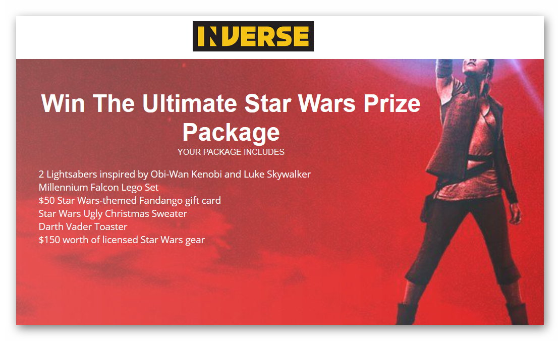 Win the Ultimate Star Wars Prize Pack