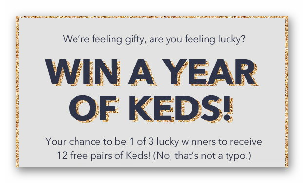 Win a Year of Keds