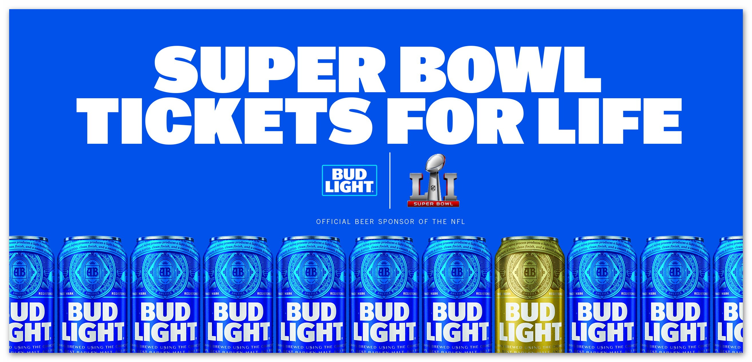 Bud Light Super Bowl Tickets For Life Sweepstakes