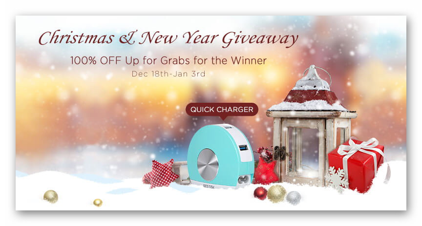 Bestek Gift Card and Quick Charger Giveaway